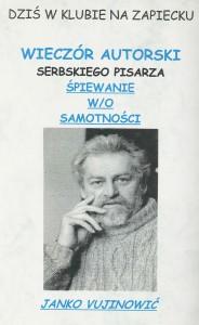 Janko Vujinowić (Serbia) – Wieczór autorski