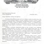 List od Zygmunta Broniarka