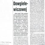Anna Makowska-Cieleń – Wspomnienia o Irenie Dowgielewicz