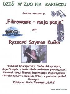 """24.01.12 -  Zbigniew Rudziński – """" Wyprawa na skraj mapy pogody """""""