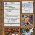 """Podziękowanie Zapieckowiczom za finansowe wsparcie akcji """"Oczy dla Etiopii"""""""