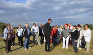 Robert Woźniak,Manager Pola Golfowego Zawarcie omawia zasady gry w golfa