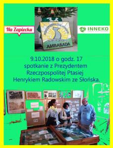 2018.10.09 Henryk Radowski Zapowiedź I