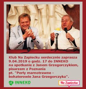 Zapowiedź I Janek Grzegorczyk 9.04.19