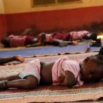 Ghana - przedszkole, czas drzemki.